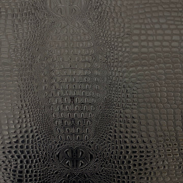 Black Aussie 3D Embossed Gator Vinyl Fabric - Fashion Fabrics LLC