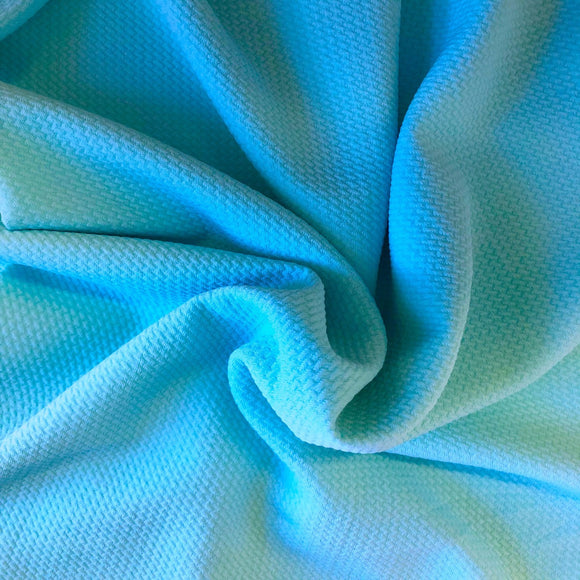 Turquoise Bullet Texture Liverpool Fabric - Fashion Fabrics Los Angeles
