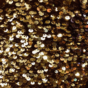 Gold Sequins Embroidered Stretch Velvet Rodeo Fabric - Fashion Fabrics Los Angeles