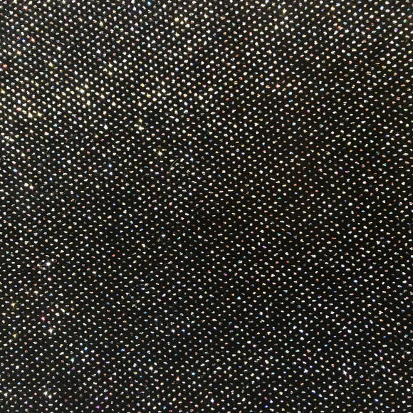 Iridescent Silver Sparkle Glitter Lurex Stretch Velvet Fabric - Fashion Fabrics Los Angeles