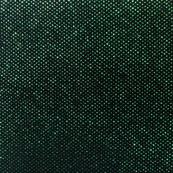 Kelly Green Sparkle Glitter Lurex Stretch Velvet Fabric