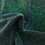 Kelly Green Sparkle Glitter Lurex Stretch Velvet Fabric - Fashion Fabrics Los Angeles