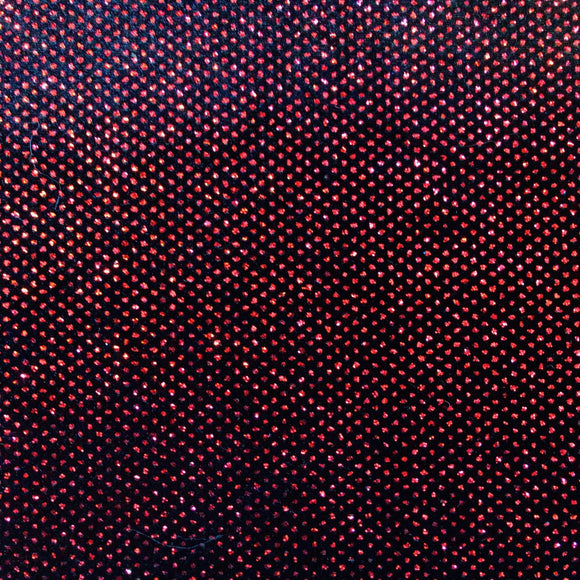 Red Sparkle Glitter Lurex Stretch Velvet Fabric - Fashion Fabrics Los Angeles