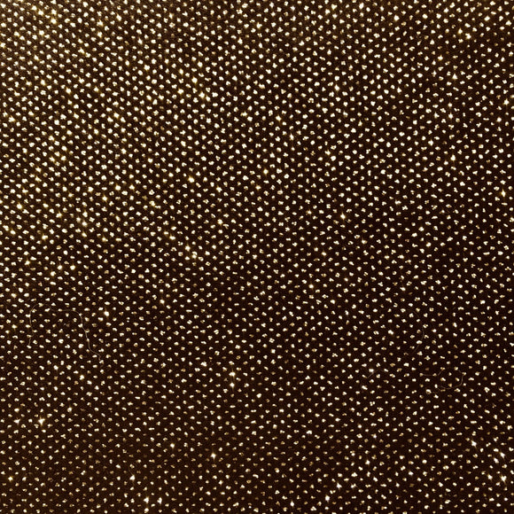 Gold Sparkle Glitter Lurex Stretch Velvet Fabric