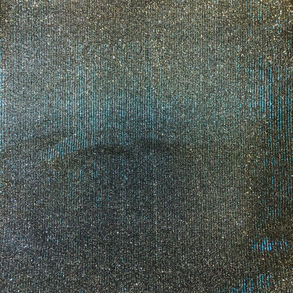Turquoise Black Silver Holographic Shimmer Glitter Spandex Fabric - Fashion Fabrics Los Angeles