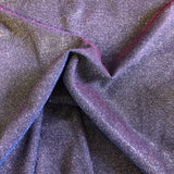 Blue Pink Lavender Holographic Shimmer Glitter Spandex Fabric - Fashion Fabrics Los Angeles