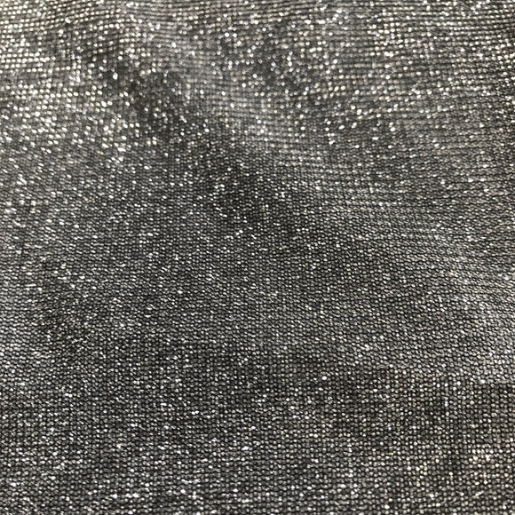 Silver Black Holographic Shimmer Glitter Spandex Fabric - Fashion Fabrics Los Angeles
