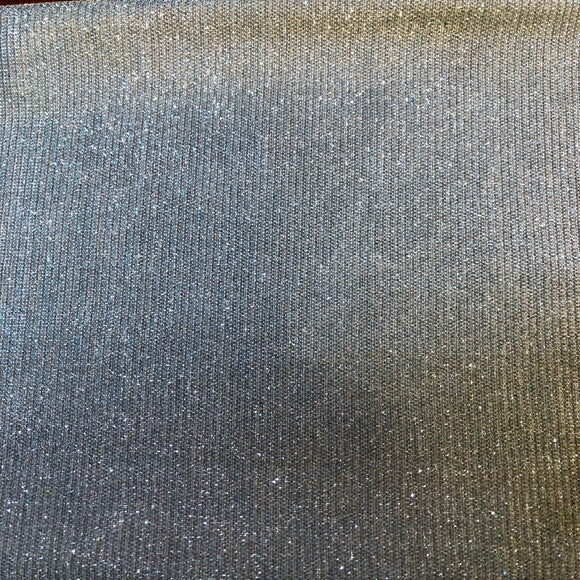 Baby Blue Silver Holographic Shimmer Glitter Spandex Fabric - Fashion Fabrics Los Angeles