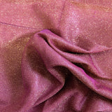 Hot Pink Gold Holographic Shimmer Glitter Spandex Fabric - Fashion Fabrics Los Angeles