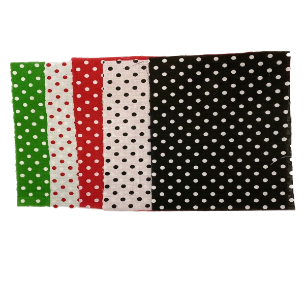 White Red Mini Polka Dot Poly Cotton Fabric - Fashion Fabrics LLC