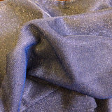 Silver Royal Blue Holographic Shimmer Glitter Spandex Fabric - Fashion Fabrics Los Angeles