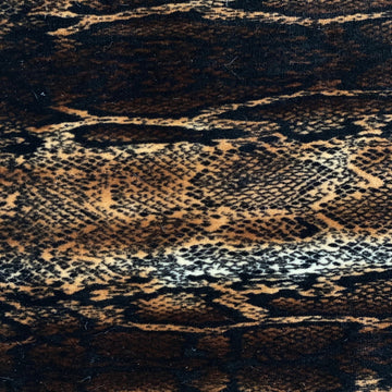 Brown Snakeskin Printed Stretch Velvet Fabric - Fashion Fabrics Los Angeles