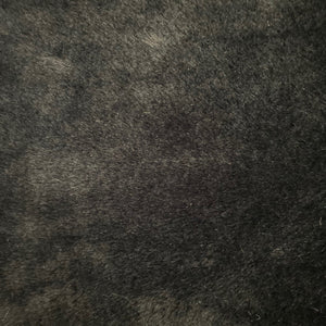 Black Rabbit Soft Cuddle Faux Fur Fabric - Fashion Fabrics Los Angeles