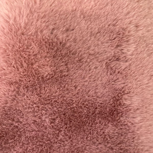 Mauve Pink Rabbit Soft Cuddle Faux Fur Fabric - Fashion Fabrics Los Angeles