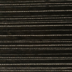 Black Silver Embroidered Metallic Stripe Stretch Velvet Fabric - Fashion Fabrics Los Angeles