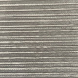 Gray Silver Embroidered Metallic Stripe Stretch Velvet Fabric - Fashion Fabrics Los Angeles