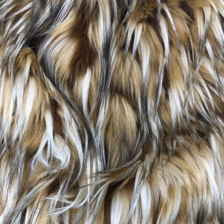 Coyote Multicolor Faux Fur Shag Fabric - Fashion Fabrics Los Angeles