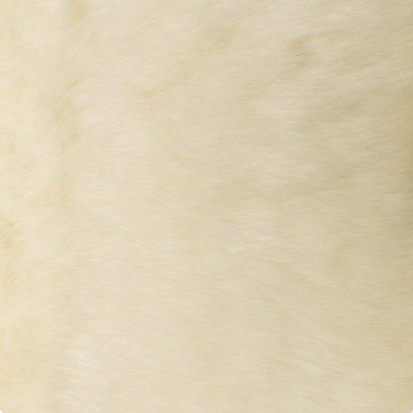 Ivory Solid Mink Faux Fur Fabric