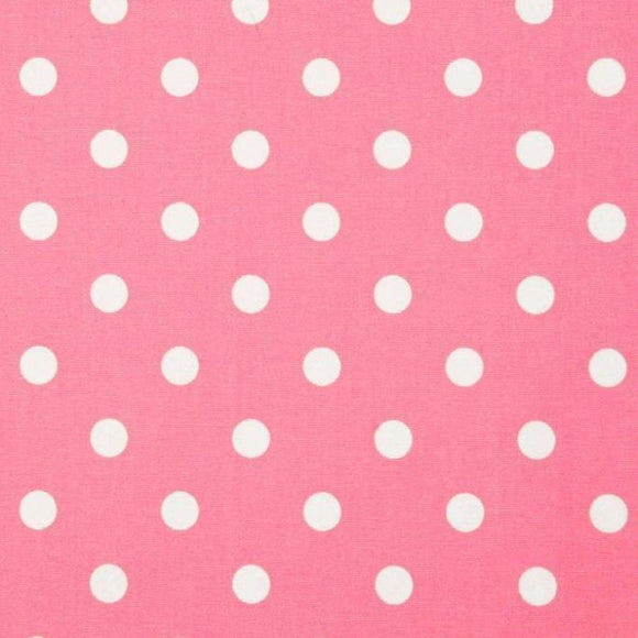 Light Pink White Small Polka Dot Print Poly Cotton Fabric - Fashion Fabrics Los Angeles