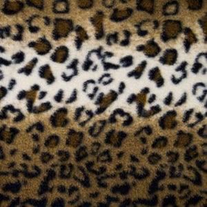 Mocha Leopard Print Fleece Fabric - Fashion Fabrics Los Angeles