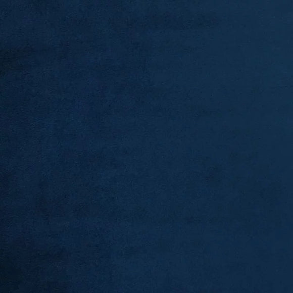 Navy Blue Smooth Minky Faux Fur Fabric