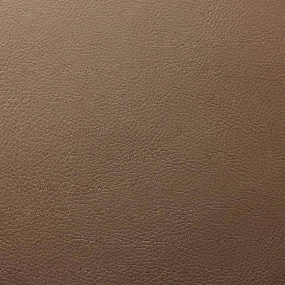 Peanut Brown Cannon PVC Faux Leather Vinyl Suede Backing Fabric