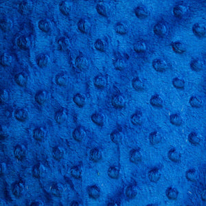Royal Blue Minky Dimple Dot Fabric - Fashion Fabrics Los Angeles