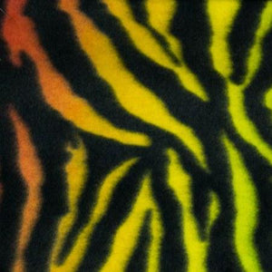 Rainbow Zebra Print Fleece Fabric - Fashion Fabrics Los Angeles