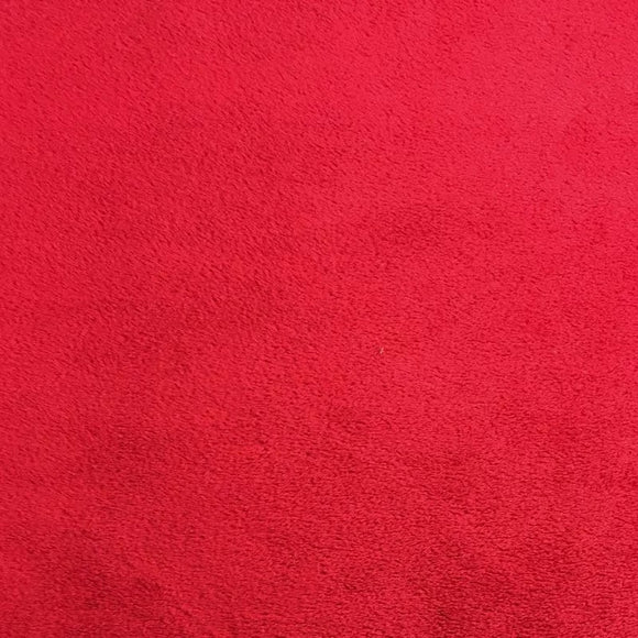 Red Smooth Minky Faux Fur Fabric
