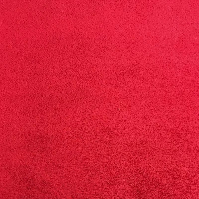 Red Smooth Minky Faux Fur Fabric - Fashion Fabrics Los Angeles