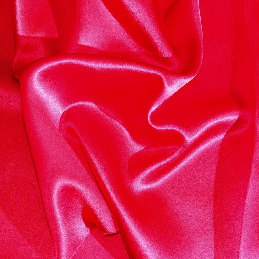 Red Silk Charmeuse Fabric - Fashion Fabrics Los Angeles