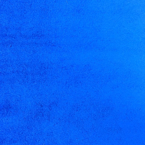 Royal Blue Smooth Minky Faux Fur Fabric