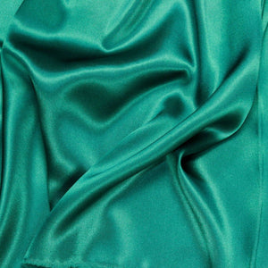 Teal Green Silk Charmeuse Fabric - Fashion Fabrics Los Angeles