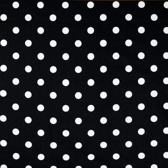 Black White Small Polka Dot Print Poly Cotton Fabric - Fashion Fabrics Los Angeles