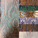 White Iridescent Chantal Deluxe Sequin Fabric
