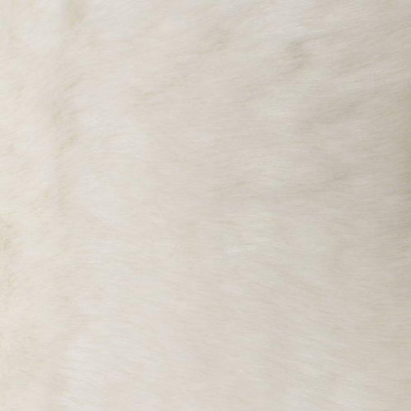 White Solid Mink Faux Fur Fabric