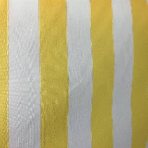 White Yellow Striped Outdoor Canvas Fabric - Fashion Fabrics Los Angeles