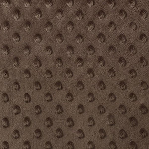 Brown Minky Dimple Dot Fabric - Fashion Fabrics Los Angeles