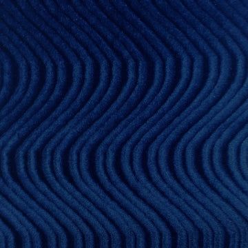 Navy Swirl Velvet Flocking Fabric - Fashion Fabrics Los Angeles