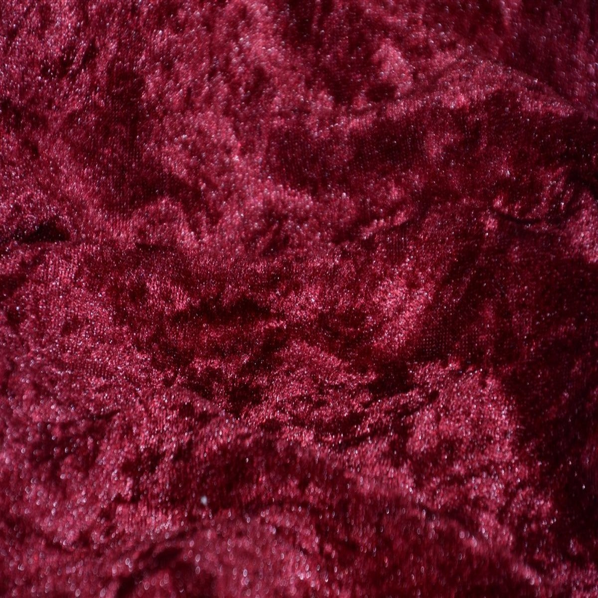 Burgundy Panne Crush Stretch Velvet Fabric