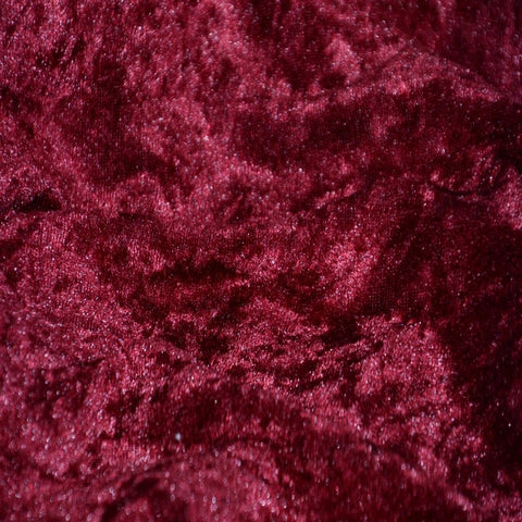Burgundy Panne Crush Stretch Velvet Fabric - Fashion Fabrics Los Angeles