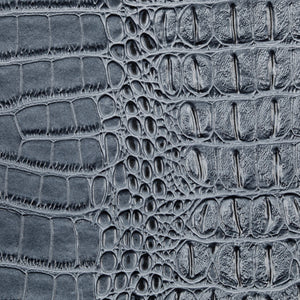 Light Blue Metallic Gator Vinyl Fabric - Fashion Fabrics Los Angeles