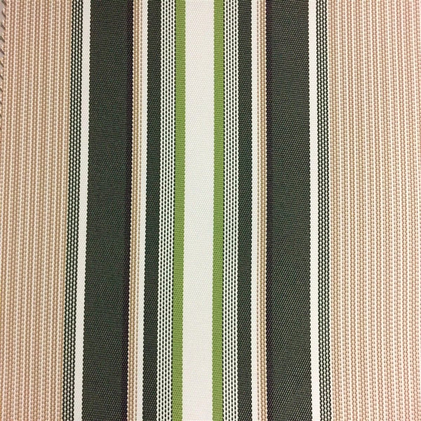 Green Multi Color Striped Oak 100% Waterproof Outdoor Canvas Patio Fabric - Fashion Fabrics Los Angeles