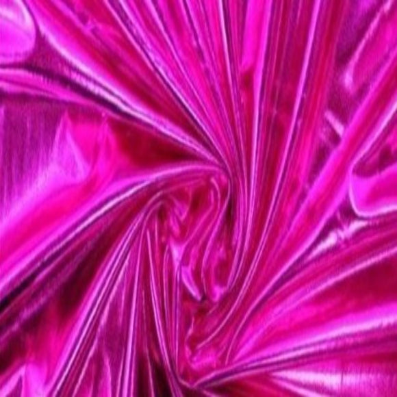 Metallic Hot Pink Apparel Spandex Fabric - Fashion Fabrics Los Angeles