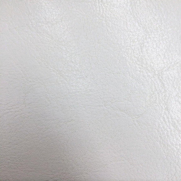 White Amarillo Grain Shiny PVC Leather Vinyl Fabric - Fashion Fabrics Los Angeles