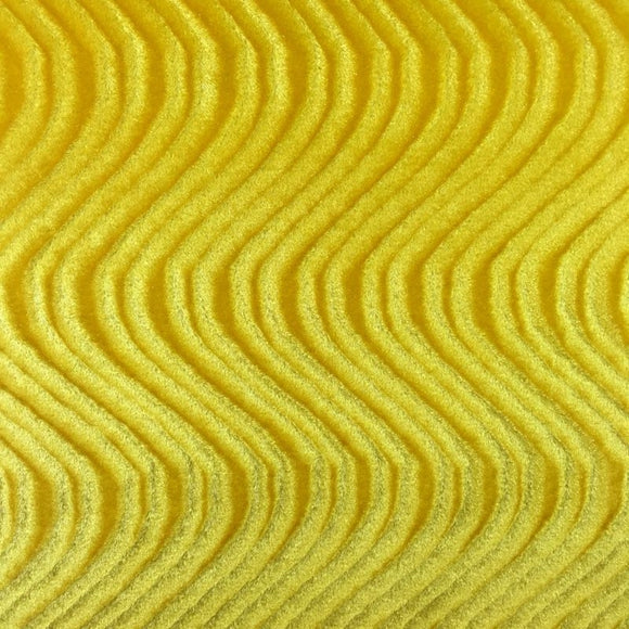 Yellow Swirl Velvet Flocking Fabric - Fashion Fabrics Los Angeles