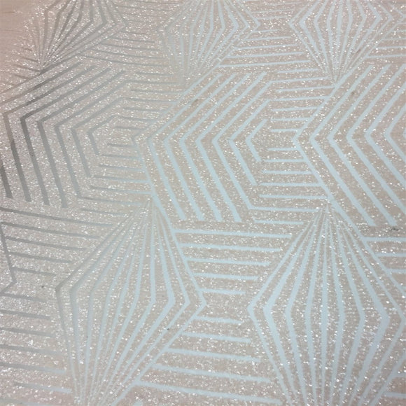 Peach Bombshell Sequin Lace Fabric - Fashion Fabrics Los Angeles