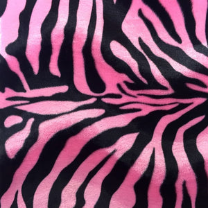 Pink Big Zebra Velboa Faux Fur Fabric - Fashion Fabrics Los Angeles