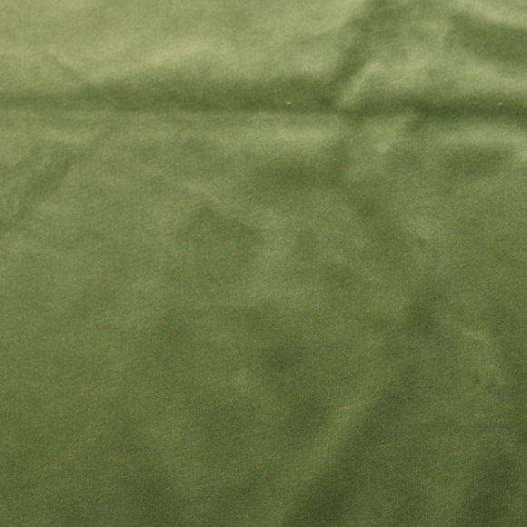 Avocado Green Camden Velvet Polyester Upholstery Drapery Fabric - Fashion Fabrics Los Angeles