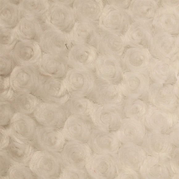 Ivory Swirl Rose Bud Fabric - Fashion Fabrics Los Angeles